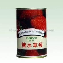 Comida dulce de China Fruta de fresa dorada en almíbar