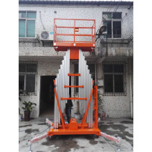 Mobile Electric Aluminum Lifting Platform Two Masts