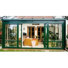 Porte coulissante en verre sans cadre moderne en aluminium de style moderne