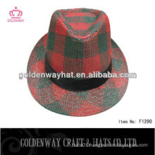 CHEAP FEDORA HATS FOR MEN/CHECKED FEDORA HAT WHOLESALE