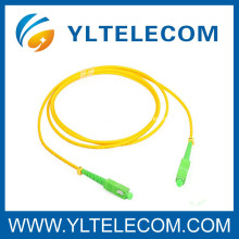 SC / APC ventilam para fora cabos de remendo de fibra óptica, cabo de remendo da manutenção programada do SC simples
