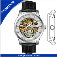 OEM Skeleton Automatic Watch with Genuine Leather Band