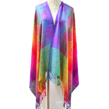 Fashion colorful woven yarn dyed jacquard scarf