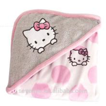 100% bamboo baby bath towel hellokitty CT-012 baby hooded towel