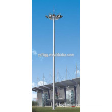 Lighting mast high polygonal steel pole