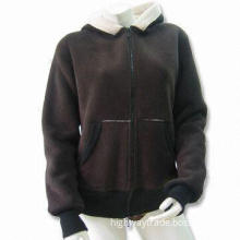 Women's Soybean/Cotton Pullover with Applique Embroidery Patch, Comfortable and Breathable Design