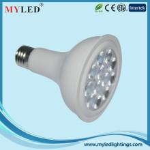 Nouveau design dimmable ce homologué Par30 lampe 12w e27 led par light
