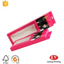 Boîte à suspendre avec fenêtre pour l'emballage des cheveux