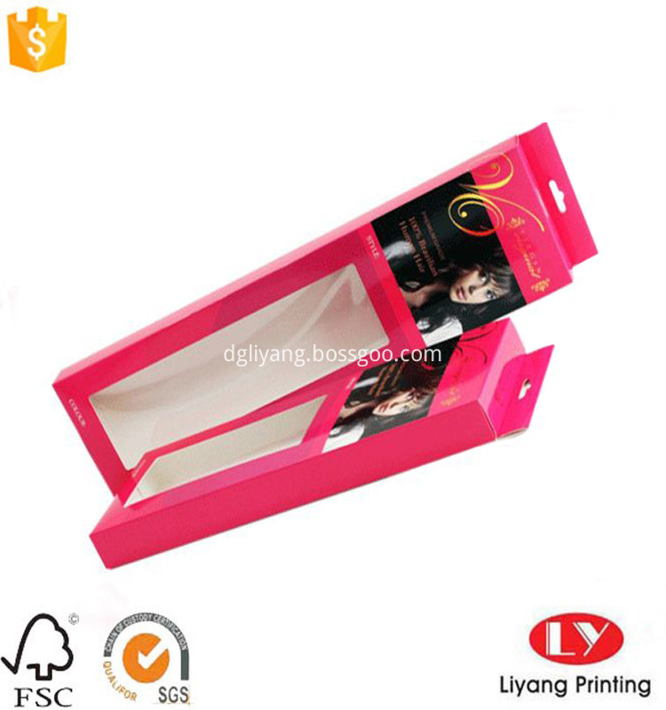 paper hanging box with window