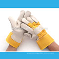 10.5 inches yellow cow split leather rigger working gloves with full palm for promotion