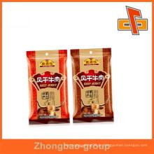 Gravure gedruckt Lebensmittel Verpackung benutzerdefinierte Rindfleisch ruckartige Tasche