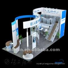 Estande da Expo !! Cabine de convés duplo resistente, design de estande de exposição e serviço de construção