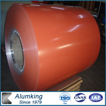 900 Mm de ancho A45 de color naranja Coated Aluminio Coil