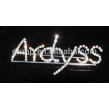 Broche en cristal à lettre personnalisée broches en pierre claire