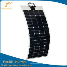 Painel solar flexível de 140W da fábrica de China diretamente