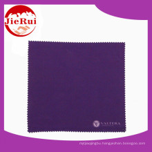 Gray Jewelry Cleaning Cloth / Custom Silk Screen Printing Microfiber Cloth