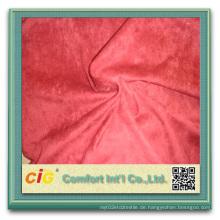 100% Polyester Wildleder Stoff für Polster Stiefel Wildleder