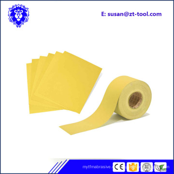 rollo de papel de lija abrasivo / rollo de hoja de papel