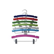 Farbe Holz Metall Clips Kleiderbügel für Kinder