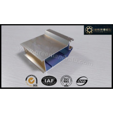 Perfil de alumínio para porta Shampange eletroforético Cor Shinny