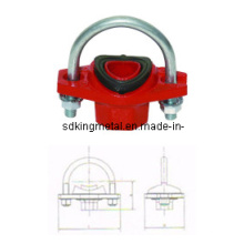 FM / UL listados Ferro Ductile 300psi U-Bolt Tee mecânico