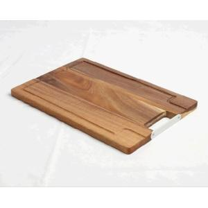 Acacia+Wood+Chopping+Board+with+Groove+and+Handle