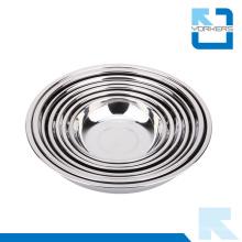 Acessórios de cozinha aço inoxidável mistura tigela / rodada placa