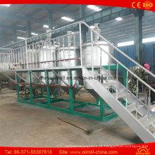 Máquina de refinação de óleo bruto de amendoim de aço inoxidável 1t / D