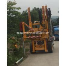 Hydraulic guardrail Pile Drilling Rig
