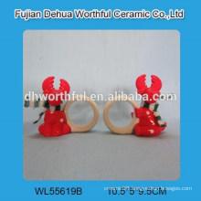 Christmas gift ceramic deer napkin ring for tableware