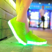 Leuchten LED Sneaker Schuhe rosa weiß grün für Frauen
