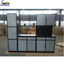 Maison / appartement modulaire en métal armoires de cuisine simples