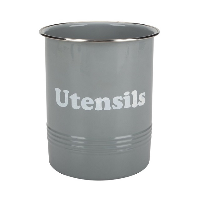 Enamel steel utensil holder