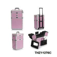2014 nuevo diseño de aluminio caja de belleza con selección de colores múltiples del balanceo