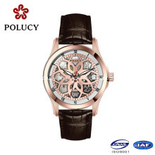 Skeleton Mechanical Luxury Stainless Steel China Supplier Mens Wrist Watches