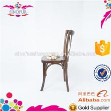 Preço de atacado cadeira de jantar de madeira de volta para trás