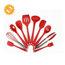 Venda quente 10 peças utensílios de cozinha ferramentas de silicone conjunto