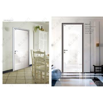 Porta de madeira de alumínio de design para casa