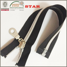 (#5) Nylon Sliver Teeth Open End Zipper