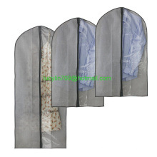 Travel Garment Bag Dust Cover Hanging Storage For Suits, Dresses, Clothes, Travel With Full strong Zipper and Clear Window,Set O