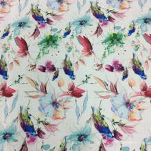 Schöne Vogel und Blume Druckstoff für Kleidung