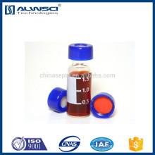 Frasco de 2 ml de inyector automático Agilent HPLC frasco transparente con inserto