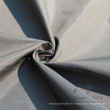 Water & Wind-Resistant Ropa deportiva al aire libre Down Jacket Tejido Plaid & DOT Jacquard 100% Nylon Tela (N044)
