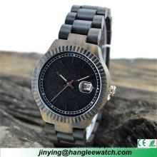 Relógio novo de madeira do calendário do relógio do estilo do OEM