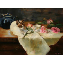 Classical White Cat Oil Painting