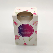Custom Fragrance Soy Wax Scented Candle Glass Jar