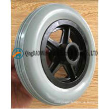 6 Inch Solid PU Wheelchair Front Wheels