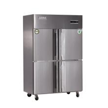 Refrigerador de cocina con doble compresor de cuatro puertas
