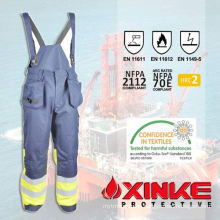 100% cotton fire retardant bib overalls for industrial workwear