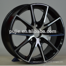 16x6.5 17x7 5x114.3 black machine face alloy wheels